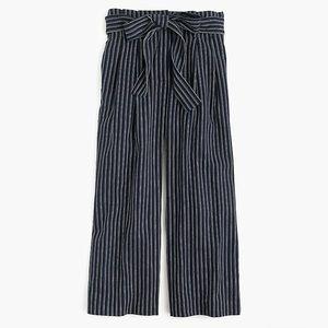 JCrew linen wide leg pants size 2